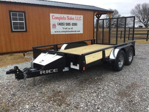 2018 Rice TDP7612 Utility Trailer