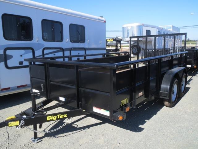 New 2018 Big Tex 70TV-14 7x14 7K GVW Utility Trailer Vin15056