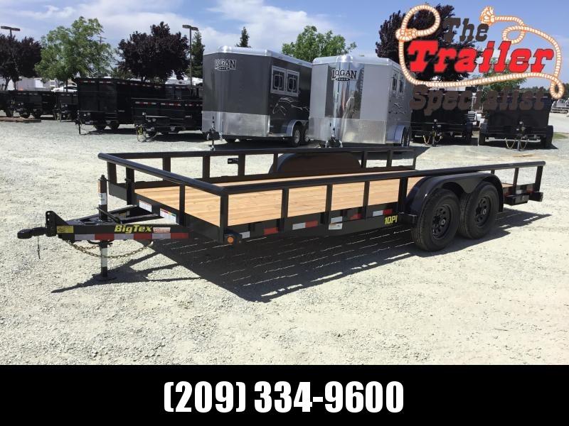 New 2020 Big Tex 10Pi-18 7x18 10K GVW Pipe Utility Trailer