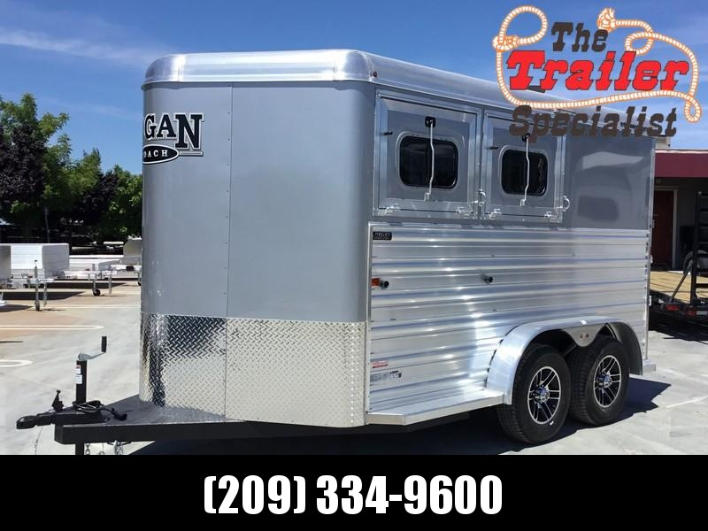 New 2019 Logan Coach Riot 2-Horse BP Horse Trailer