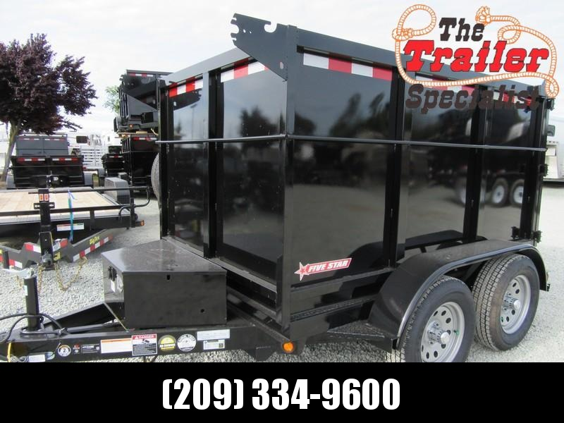 New 2018 Five Star DT290 5x8 Dump Trailer 7K 4' sides
