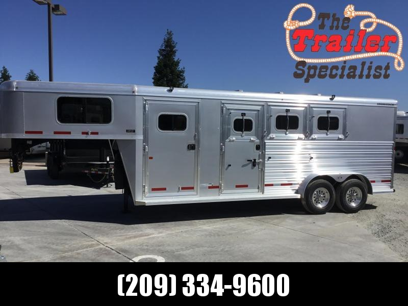 New 2019 Logan Coach Riot 4H GN Horse Trailer w/dual mandoors