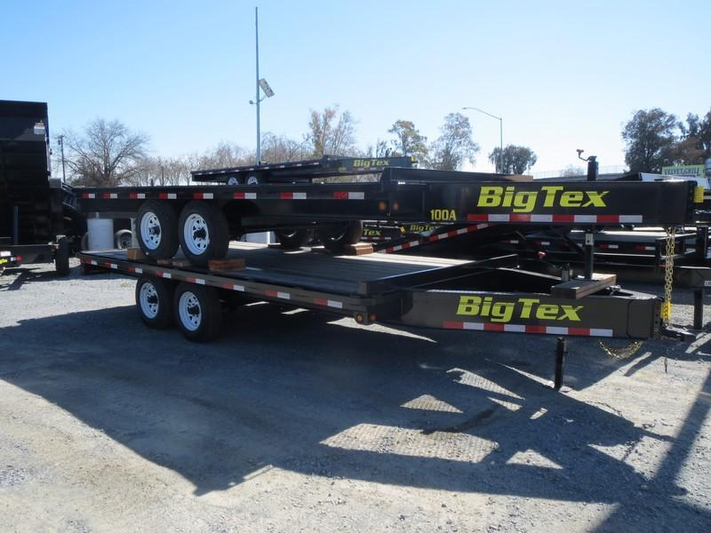 2017 Big Tex 10OA-16SIR Flatbed Trailer 8.5x16 VIN41831