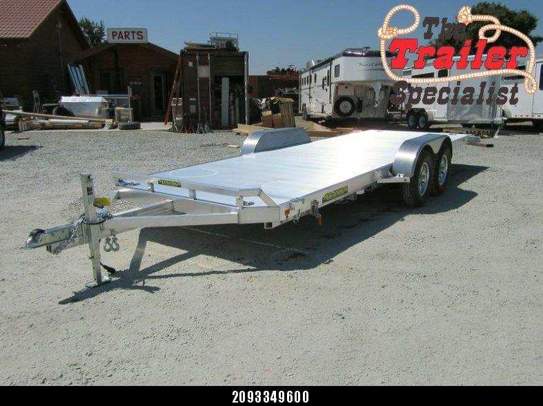 """New 2018 Aluma 8220HTilt 82""""x20' aluminum Car Hauler Car / Racing Trailer Vin69929"""