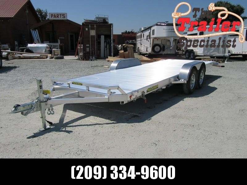 "New 2018 Aluma 8220HTilt 82""x20' aluminum Car Hauler Car / Racing Trailer Vin69929"