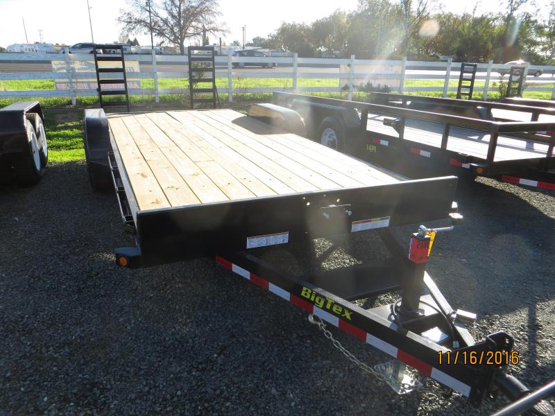 New 2018 Big Tex 10ET-20KR 7x20 10K GVW Equipment Trailer Vin:95492