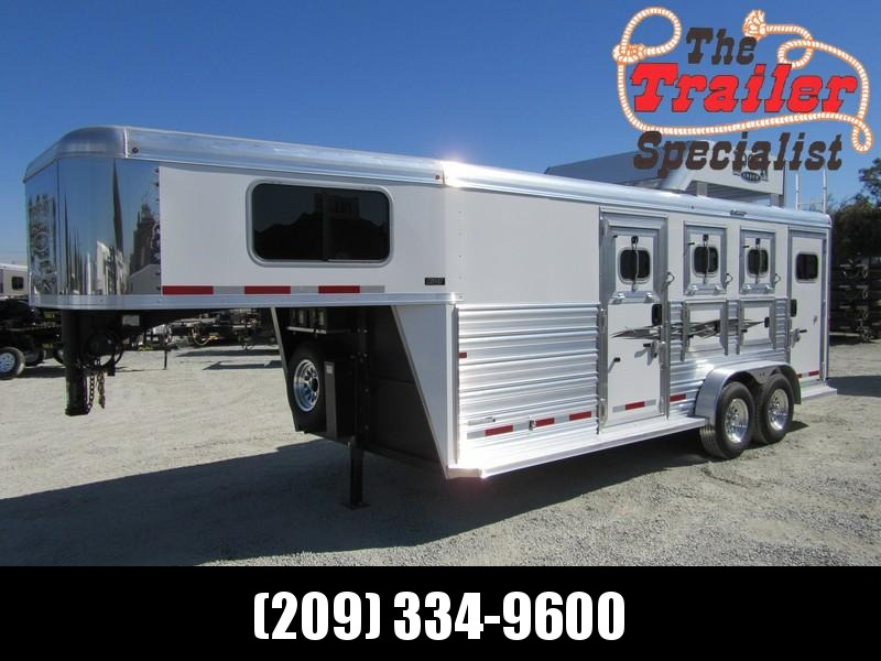 New 2018 Logan Coach Riot 3-Horse GN w/Side Tack Horse Trailer Vin05923