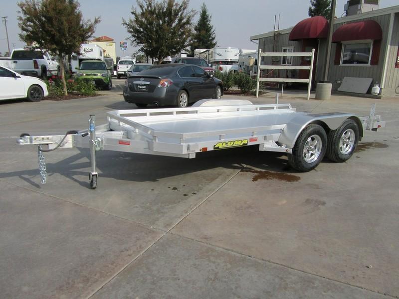 "New 2019 Aluma 7814R 78""x14' aluminum utility trailer Vin 77526"