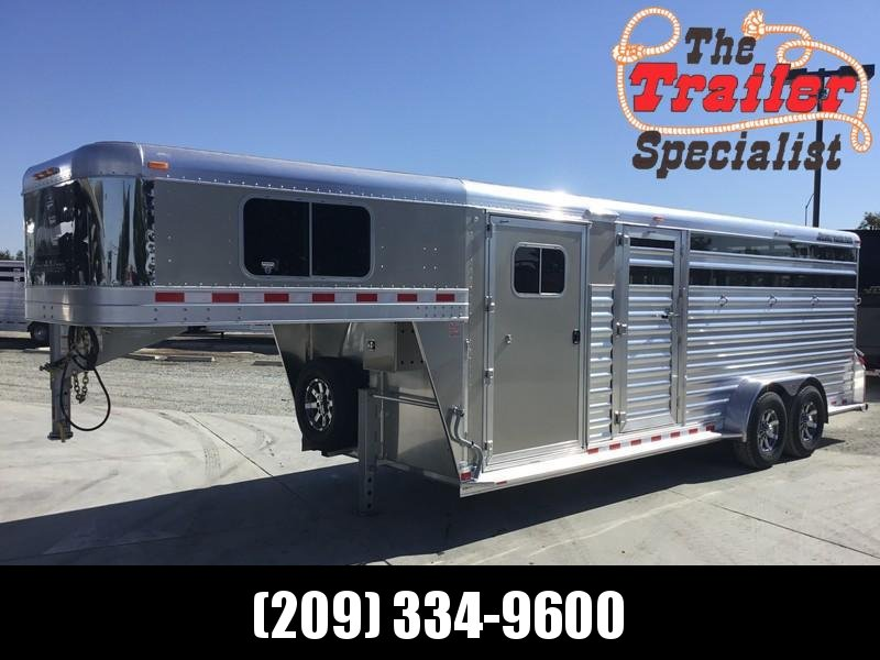 NEW 2019 Elite Trailers 22 ft dual man door stock combo Livestock Trailer