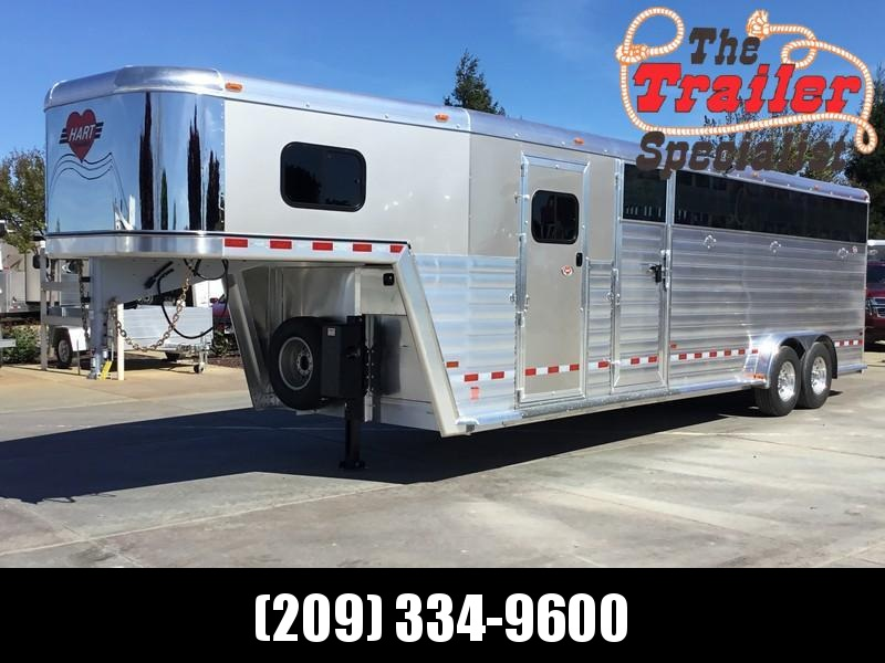2019 Hart Trailers 26 ft Smart tack Stock Combo Livestock Trailer