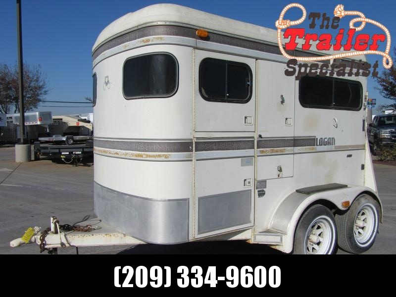 Preowned 1990 Logan Coach Straightload 2H Horse Trailer Vin 05253