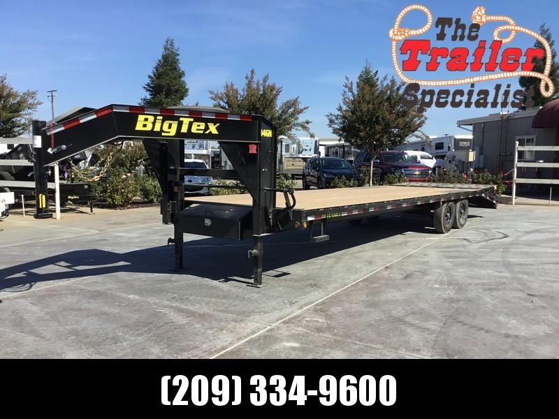 "New 2019 Big Tex Trailers 14GN-25+5MR 14K GVW 102""x30'  Flatbed Trailer"