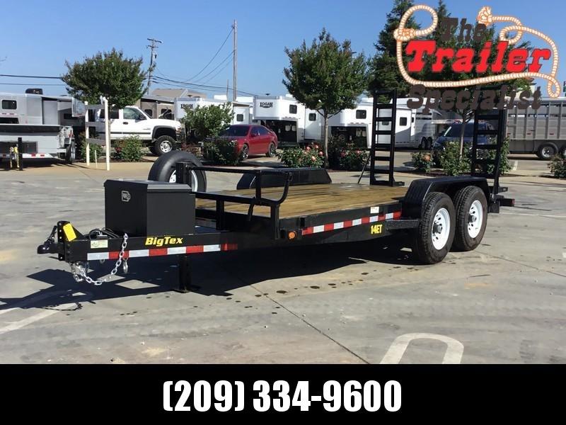 USED 2015 Big Tex Trailers 14ET-16SUR Equipment Trailer