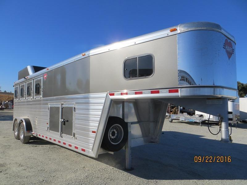 New 2017 Hart Trailers Tradition Horse Trailer 4H Smart Storage VIN:51064