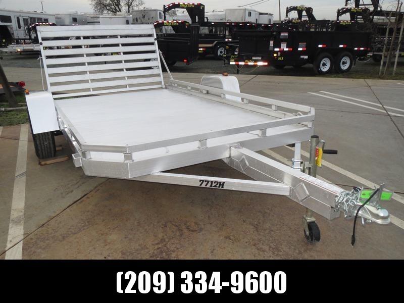 "NEW 2020 Aluma 7712H aluminum Utility Trailer 77""x12'"