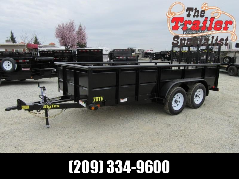 New 2018 Big Tex 70TV-14-6W 6x14 Utility Trailer Vin 15055