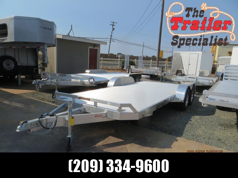 "New 2019 Aluma 8218B Car / Racing Trailer 82""x18' Beavertail"