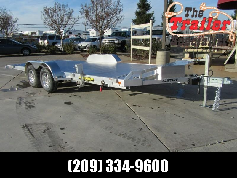 "New 2018 Aluma 8218Tilt 82""x18' Car / Racing Trailer Vin 76850"