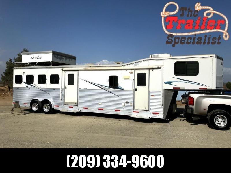 USED 2008 Silver Lite 4H 14ft LQ Horse Trailer
