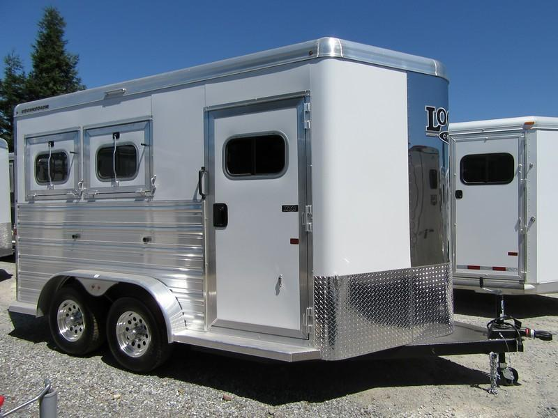 "2017 Logan Coach XTR 2H 7'6"" tall Horse Trailer Vin 05627"