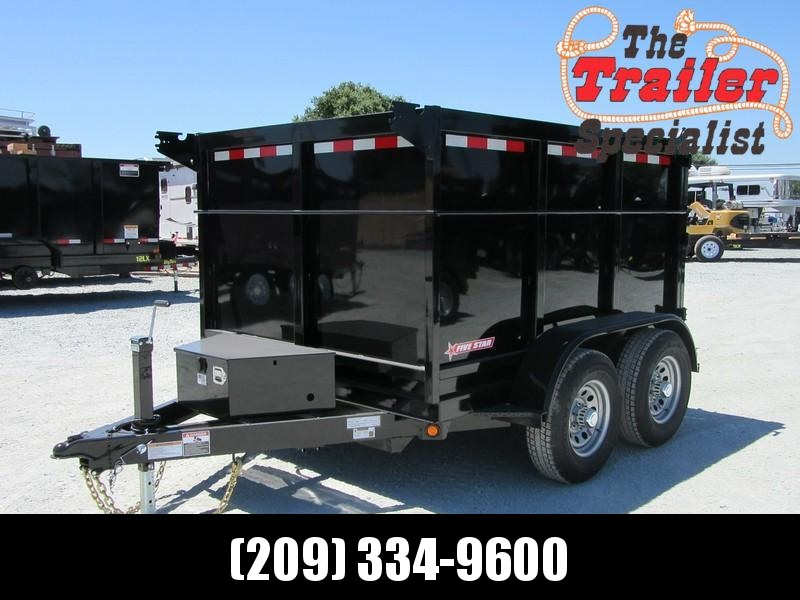 New 2018 Five Star DT294 D10 6x8 10K 4' sides Dump Trailer VIN32570