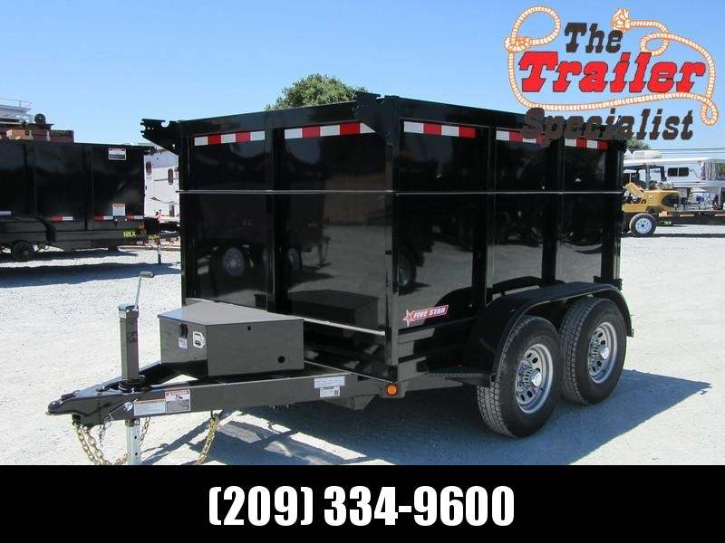New 2019 Five Star DT294 D10 6x8 10K 4' sides Dump Trailer
