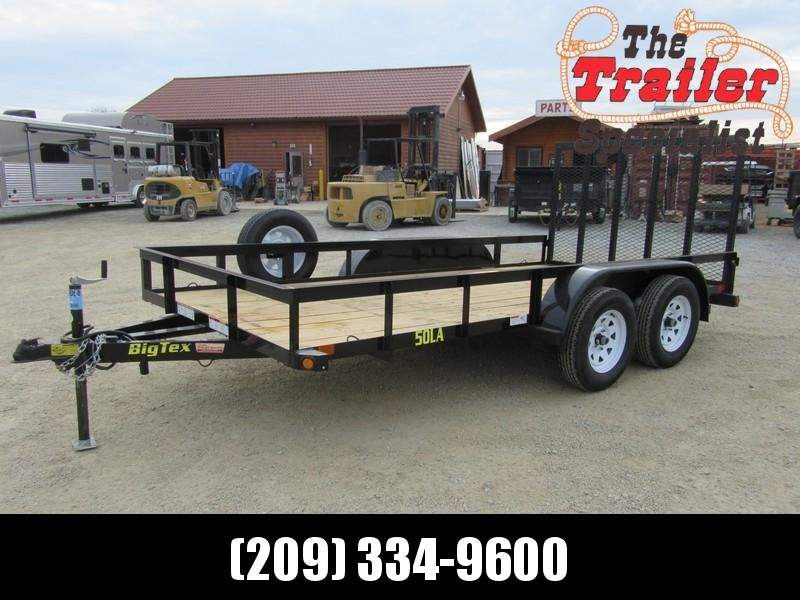 Preowned 2015 Big Tex 50LA-14-4RG Utility Trailer Vin 93085