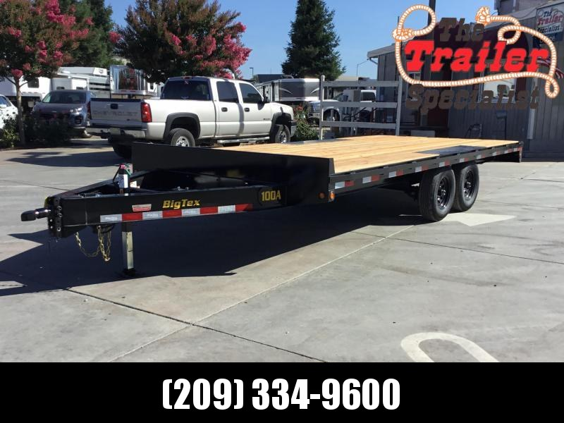 New 2020 Big Tex 10OA-18 Flatbed Trailer 8.5x18 10K GVW