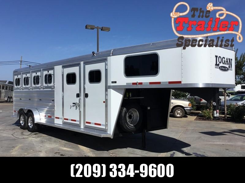New 2019 Logan Coach Riot 4H GN w/Side Tack Horse Trailer