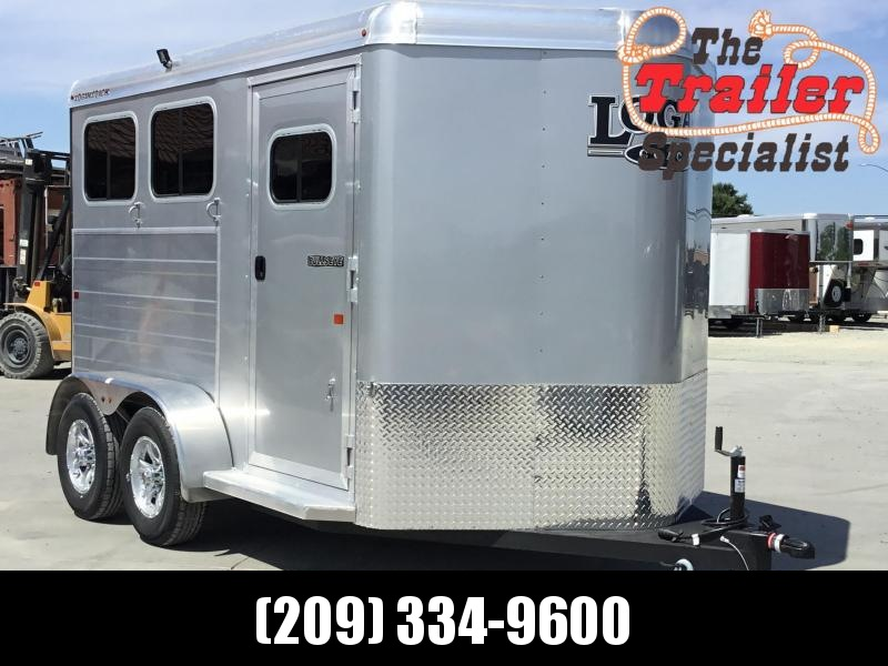 NEW 2019 Logan Coach 2 horse Bullseye Horse Trailer