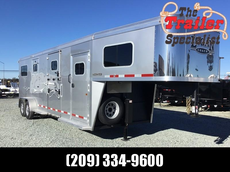 NEW 2019 Logan Coach Warmblood Straightload 2+1 GN Horse Trailer