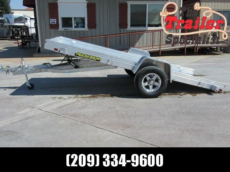 """New 2020 Aluma 6812HTilt 68""""x12' Aluminum Tilt Utility Trailer"""