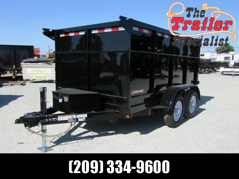 New 2018 Five Star DT257 6x10 7K GVW 4' Sides Dump Trailer