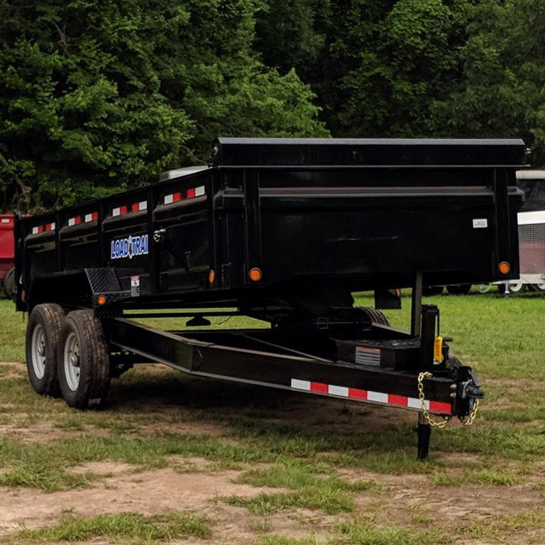"2019 Load Trail 16' 14K DUMP 8"" IBEAM FRAME TARP RAMPS 3W"