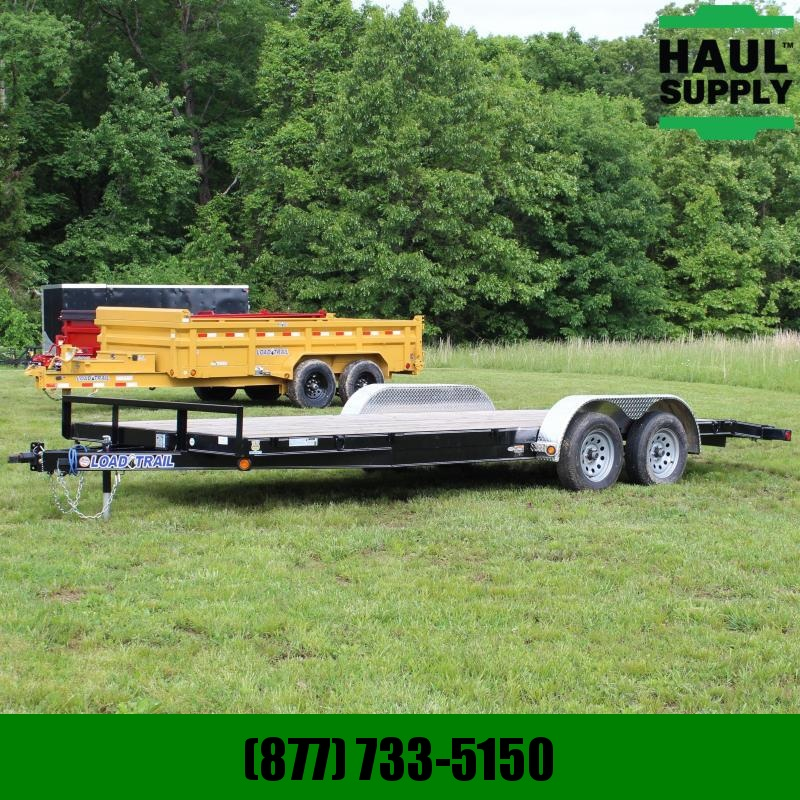 Load Trail 83X20 7K Open Car Hauler with Slide-in Si