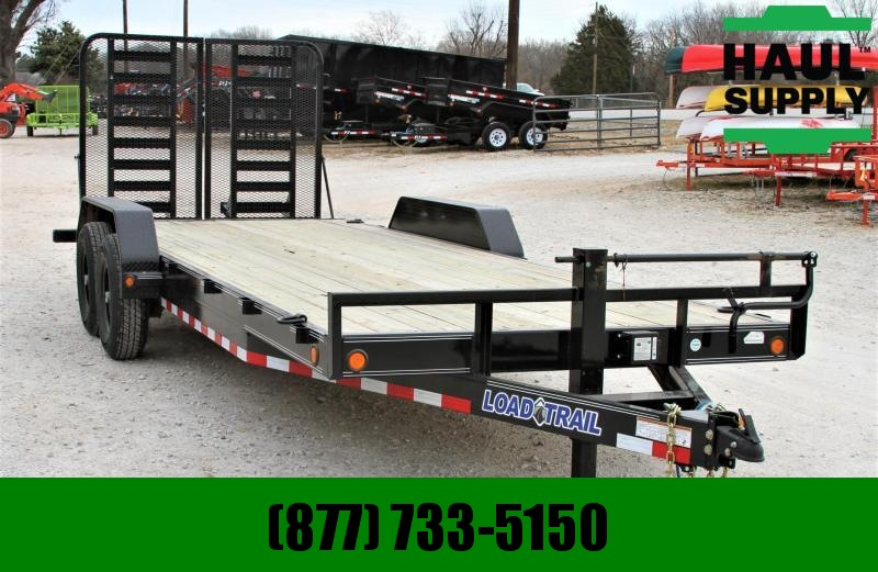 "83X22 14K HD Split Gate Equipment Trailer 6""Channel Frame"
