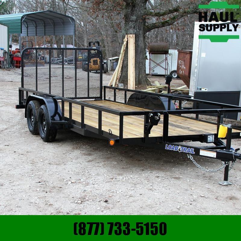 "Load Trail 83X18 TA 7K Utility w/treated lumber 24""c"