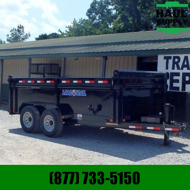 "83X16 Load Trail Dump Trailer 36""SIDES SOLAR CHARGER I-BEAM RAMPS"