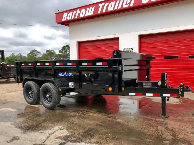 New 2020 Load Trail 7ft x 14ft 14k Tandem Axle  Bumper Pull Dump   (Black)