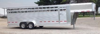 2017 Eby Trailers Maverick 7 X 24 Livestock Trailer