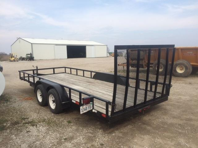 2001 Trailerman Trailers Inc. 83 X 18 Utility Trailer