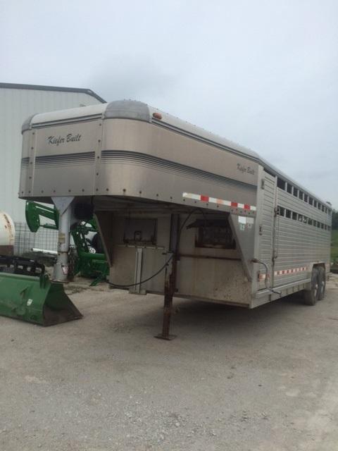 2000 Kiefer Built 8 X 22 Livestock Trailer