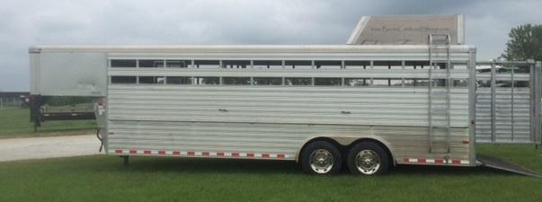 2012 Sundowner 8 x 24' Livestock Trailer