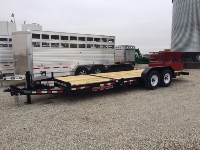 2018 Trailerman Trailers Inc. Custion Tilt (6+16) Equipment Trailer