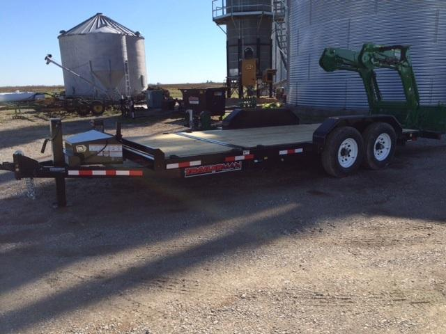 2018 Trailerman Trailers Inc. Custion Tilt Equipment Trailer