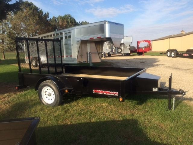 2017 Trailerman Trailers Inc. Solid Side 77 X 10 Utility Trailer