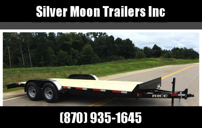 "2018 FMCM Rice 10k 82""x20' Equipment Trailer"