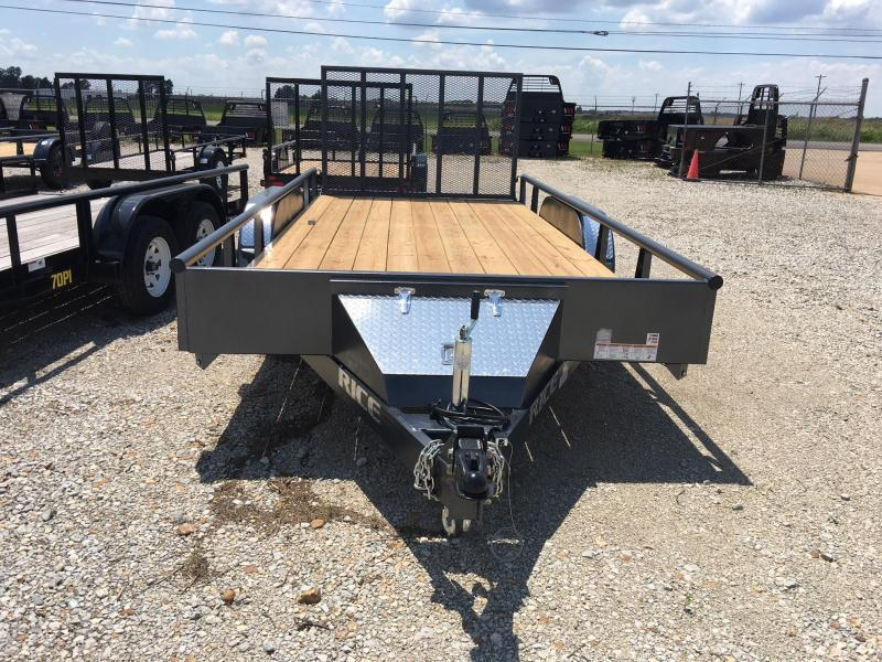 "2018 Rice 82""x 20' Tandem Pipe Utility Trailer"