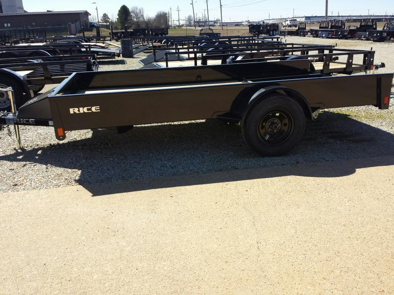 "2018 Rice 76""x12' Stealth Trailer"
