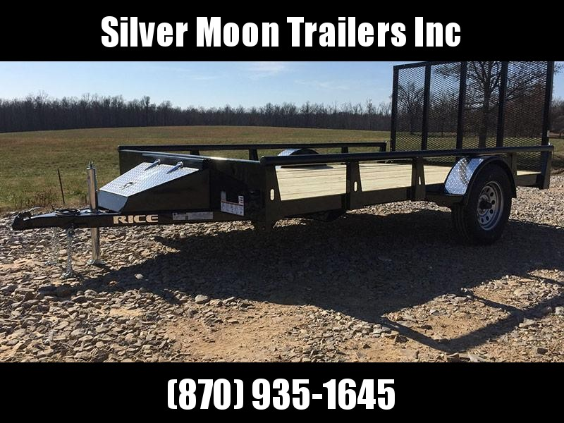 2018 Rice 6x14 Single Axle Pipe Trailer